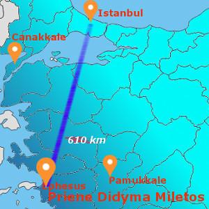 DAILY PRIENE - MILETOS - DIDYMA BY FLIGHT