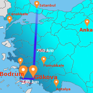 BODRUM-GOKOVA-BODRUM 8 DAYS 7 NIGHTS BY FLIGHT