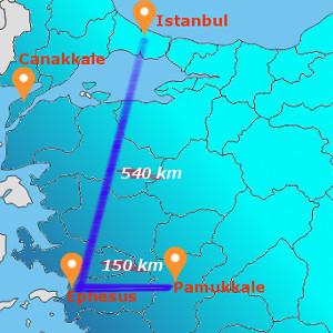 EPHESUS - PAMUKKALE 1 NIGHT 2 DAYS BY FLIGHT